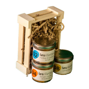 COFFRET GOURMAND : LA CAGETTE DE 3 RILLETTES APERITIVES