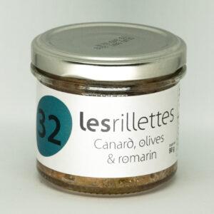 Les rillettes de canard aux olives et romarin